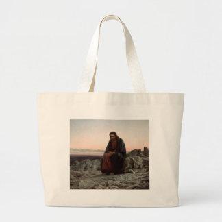 Bolsa Tote Grande Cristo na região selvagem - belas artes de Ivan