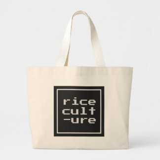 Bolsa Tote Grande Cultura do arroz com quadro