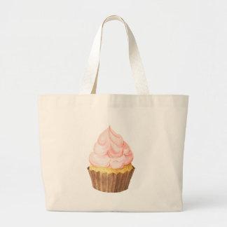 Bolsa Tote Grande cupcake cor-de-rosa
