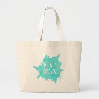 Bolsa Tote Grande Da praia branco por favor