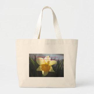 Bolsa Tote Grande Daffodil do amarelo do 18:19 do salmo