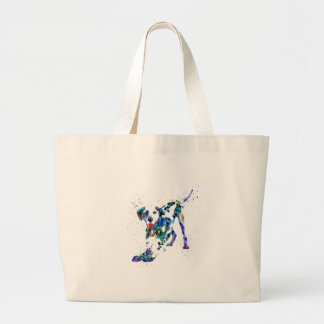 Bolsa Tote Grande Dalmatian, cão Dalmatian, Dalmatian da aguarela