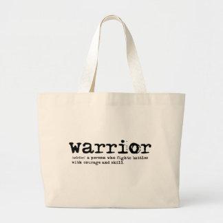 Bolsa Tote Grande Definição do guerreiro