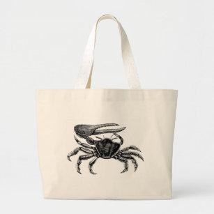 Bolsa Tote Grande Desenho do caranguejo de violinista