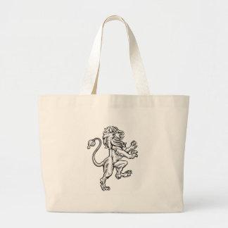 Bolsa Tote Grande Desenho heráldico do estilo do leão