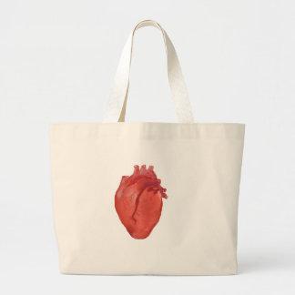 Bolsa Tote Grande Design da anatomia do coração