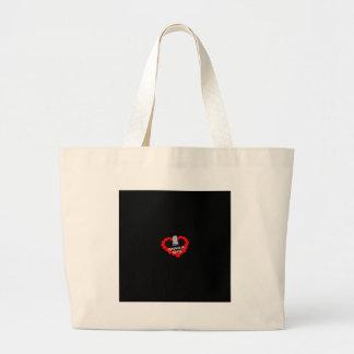 Bolsa Tote Grande Design do coração da vela para o estado de