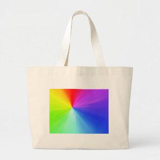Bolsa Tote Grande Design do espectro do arco-íris