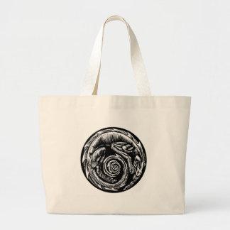 Bolsa Tote Grande Design do tatuagem do dragão