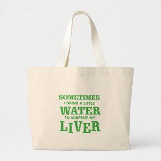 Bolsa Tote Grande Design engraçado do fígado
