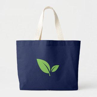 Bolsa Tote Grande Design gráfico azul verde verde da vida |