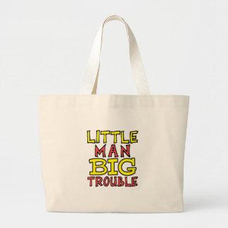 Bolsa Tote Grande Design grande do miúdo do problema do homem