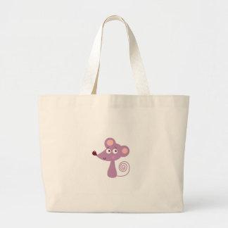 Bolsa Tote Grande Design/rato dos miúdos no branco
