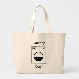 Bolsa Tote Grande Dia da lavanderia!