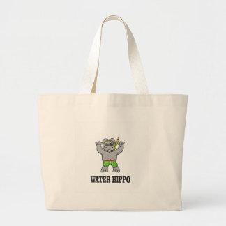 Bolsa Tote Grande divertimento do hipopótamo da água