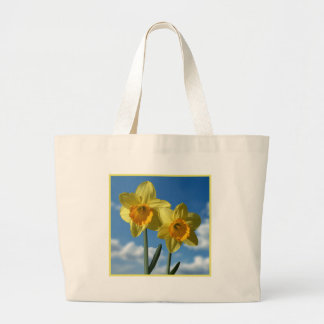 Bolsa Tote Grande Dois Daffodils amarelos 2,2