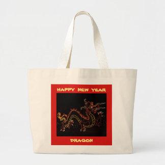 Bolsa Tote Grande Dragão 2016 do ano novo do Natal