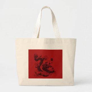Bolsa Tote Grande Dragão chinês