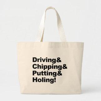 Bolsa Tote Grande Driving&Chipping&Putting&Holing (preto)