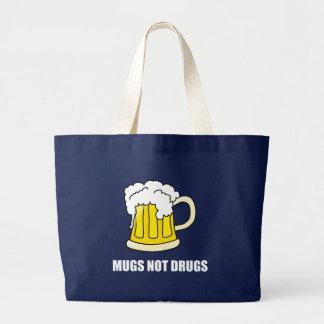 Bolsa Tote Grande Drogas das canecas não