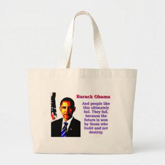 Bolsa Tote Grande E as pessoas gostam desta - Barack Obama