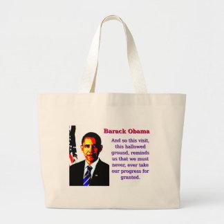 Bolsa Tote Grande E assim esta visita - Barack Obama