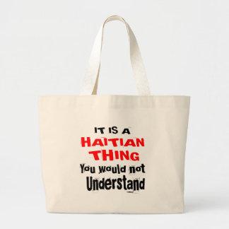 BOLSA TOTE GRANDE É DESIGN HAITIANO DA COISA