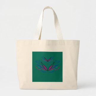 Bolsa Tote Grande Eco do verde da mandala do bem-estar