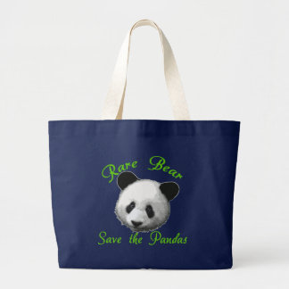 Bolsa Tote Grande Economias raras do urso as pandas