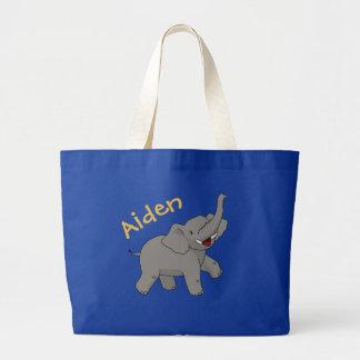 Bolsa Tote Grande Elefante feliz sacola personalizada