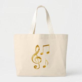 Bolsa Tote Grande Elegante chave do violino