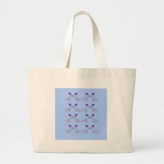 Bolsa Tote Grande Elementos do design azuis