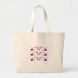 Bolsa Tote Grande Elementos do design em Ethno branco