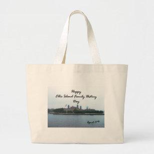 Bolsa Tote Grande Ellis Island antecedentes familiares dia o 17 de 24a75261c05