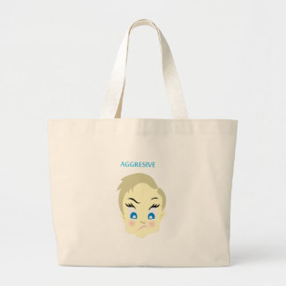 Bolsa Tote Grande emoji do bebê - agressivo