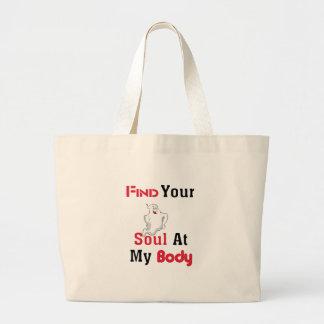 Bolsa Tote Grande Encontre sua alma em meu corpo