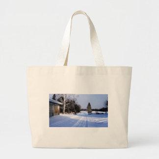 Bolsa Tote Grande Entrementes em Canadá, inverno!
