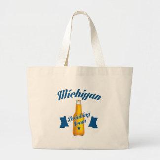 Bolsa Tote Grande Equipe do bebendo de Michigan