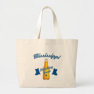 Bolsa Tote Grande Equipe do bebendo de Mississippi