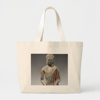 Bolsa Tote Grande Escultura descolorada de Buddha - dinastia de Tang
