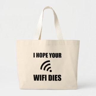 Bolsa Tote Grande Espere seus dados de Wifi