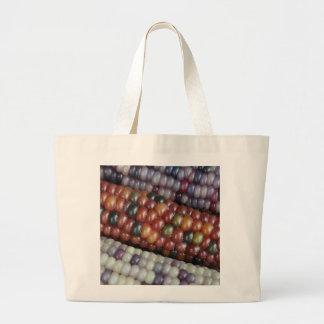 Bolsa Tote Grande Espiga de milho de vidro colorida da gema