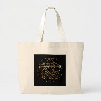 Bolsa Tote Grande Espiral de Fibonacci a geometria sagrado