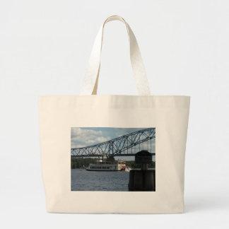 Bolsa Tote Grande Espírito de Dubuque no rio Mississípi