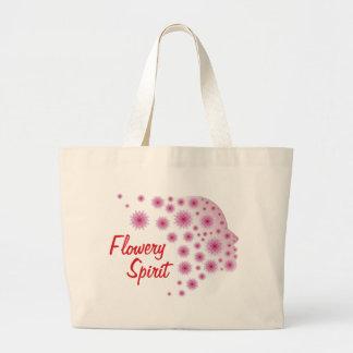 Bolsa Tote Grande Espírito florido