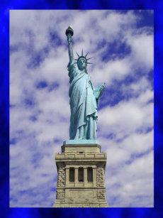 Bolsa Tote Grande Estátua da liberdade 774acef757e