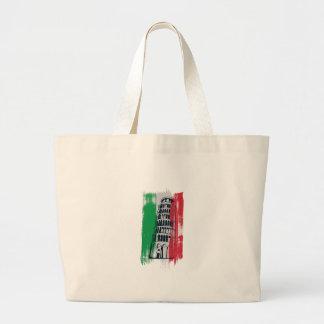 Bolsa Tote Grande estátua italiana do vintage