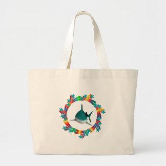 Bolsa Tote Grande Estrelas do tubarão