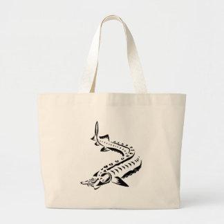 Bolsa Tote Grande Esturjão tribal - beluga de Huso