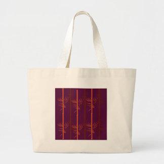 Bolsa Tote Grande Ethno de bambu da edição do vinho do design
